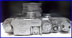 1951 Leitz Leica IIIf Camera with Summitar 50mm f/2.0 fast Lens & Accessories RARE