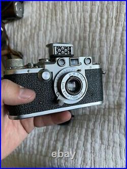 (CLA) Leica Leitz IIIF Vintage German 35mm Rangefinder Film Camera