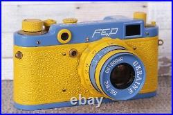 Camera FED-2 Rangefinder 35 mm. Lens 2.8 / 55mm. Leica Exclusive Model Ukraine