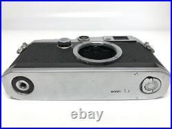 Canon Model L3 Rangefinder Film Camera Body Leica L39 Screw Mount Japan