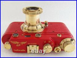 EXCELLENT Leica-II(D) Luftwafe WW 2 Vintage Russian Rangefinder 35mm RED Camera