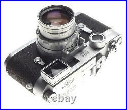 Exquisite Leica M3 rangefinder camera Summicron 2/50mm Museaum condition box kit