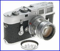 JUST SERVICED LEICA SS M3 EXCELLENT 35mm CAMERA WITH SUMMICRON 2/50mm LENS NICE
