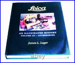 James Lager Vol III An Illustrated History Leica Accessories signed Book NEW