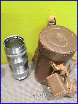 LEICA DRP CAMERA Ernst Leitz Wetzlar 50mm LENS, Nippon Kogaku Lens, Leather Case