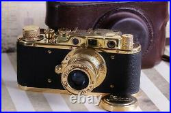 LEICA II(D) K. M. Kriegsmarine WWII Vintage 35mm Art Camera Black/Gold FED Based