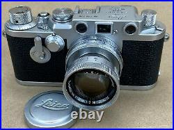 LEICA IIIF Red Dial Self Timer Vintage 1954 Camera #726720 with 5cm f/2 Summicron