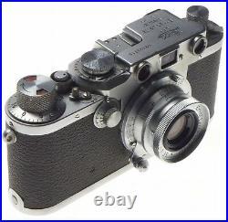 LEICA IIIc L39 screw mount rangefinder camera f=3.5 cm Summaron 3.5/35mm lens 3C
