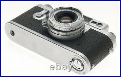 LEICA IIIg 3G CAMERA LEITZ SILVER CHROME PRIME ELMAR 12.8/50mm CASE CAP MANUAL