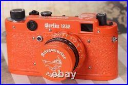 LEICA K. M. Kriegsmarine WWII Vintage 35mm Art Camera Orange Exclusive FED Based