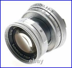 LEICA M2 BEAUTIFUL SUMMICRON 12 f=5cm LENS 2/50mm CASE MANUAL CAP CLEAN CAMERA