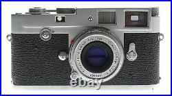 LEICA M2 CHROME RANGEFINDER 35mm FILM CAMERA ELMAR 2.8 f=5cm COLLAPSIBLE LENS