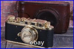 LEICA Olimpiad in Berlin 1936 VTG Camera +Leitz Elmar (3.5/50) Black Zorki Copy