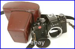 LEICA R R3 BODY ELECTRONIC 35MM SLR CAMERA With CAP, STRAP & CASE