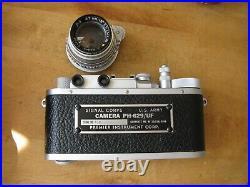 Leica Copy Kardon Camera US Army Signal Corp Kodak 47mm Ektar Lens