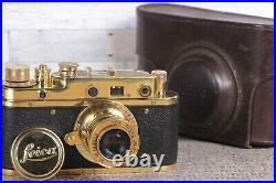 Leica Film camera, rangefinder Lens Elmar f3.5/50mm GOLD Vintage