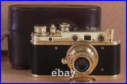 Leica II D D. R. P. Camera lens Leitz Elmar Exclusive (Fed Zorki copy)