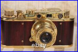 Leica-II D KM Kriegsmarine +Leitz Elmar lens 35mm Art Camera RED /Fully working