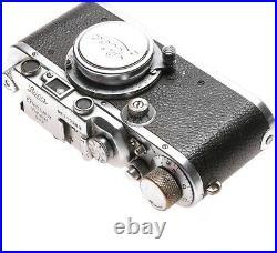 Leica III camera chrome 35mm film vintage Elmar 5cm lens f3.5 used 3/5/50mm