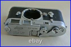Leica M3 DS double stroke chrome camera body