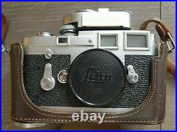 Leica M3 camera body with case and light meter