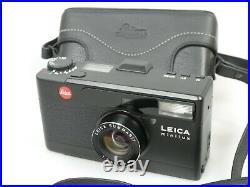 Leica minilux black schwarz titan Summarit 2,4/40 TOP Near Mint +Ta. Case ANKAUF