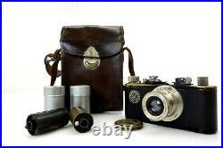 Leitz Leica I No 27932 black paint with nickel elements Elmar 50mm f3,5 jr065