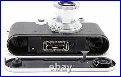 Leitz Leica III F, vintage 35mm camera + 3x lens Elmar 35 50 90 mm + viewfinder