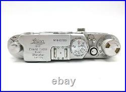 Leitz Wetzlar Leica IIIF Red Dial 35mm Rangefinder Camera Body Nr. 640199