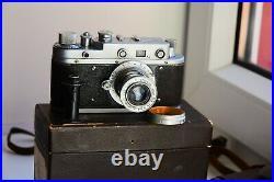 Rare Zorki-1(C) (S) VINTAGE USSR Copy Leica Film Camera withs lens industar-22 EXC