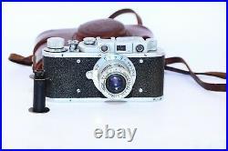 Rare Zorki-1 VINTAGE USSR Copy Leica Film Camera withs lens industar-22 EXCELLENT