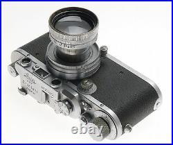 SUMMITAR 12 f=5cm VINTAGE LENS IIIa CHROME LEICA 35mm FILM CAMERA USED 12/50mm