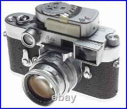 Stunning kit Leica boxed SS M3 rangefinder 35mm film camera DR Summicron 2/50mm