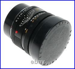 Summicron-R 12/90 Leica SLR vintage camera 2 Cam lens Hood Clean