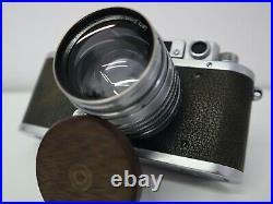 VINTAGE CAMERA LEICA IIIb Nr. 288499 WAR TIME CAMERA WITH LEITZ XENON 1.5/5cm