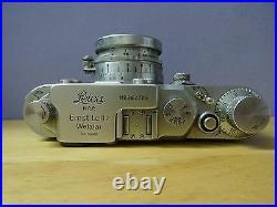 Vintage Leica DRP Ernst Leitz GMBH Wetzlar 462709 Camera withSummitar F-5 cm Lens