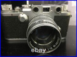 Vintage Leica DRP Ernst Leitz GmbH Wetzlar Camera Summarit 50mm Excellent