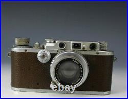 Vintage Leica Germany DRP Ernst Leitz Wetzlar 35mm Camera Body No 182442 with Lens