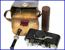 Vintage Leica IA Camera W. 50/3,5 Elmar lens & withcase, rangefinder, cassette, box