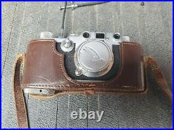 Vintage Leica III C camera 35mm bellows close-up bundle with lens and body