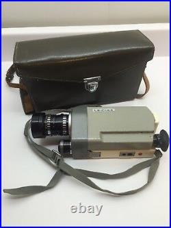 Vintage Leica Leicina 8SV 8mm Film Movie Camera with Case, Untested