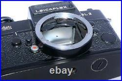 Vintage Leicaflex SL2 black 35mm SLR Film Camera. Wetzlar Germany. Sold AS-IS